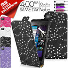 DIAMOND LEATHER FLIP CASE COVER FITS BLACKBERRY Z10 BB 10 FREE SCREEN PROTECTOR