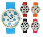 Zaza London Ladies Girls Spotty Design Fashion Strap Watch Gift for Her LLB850
