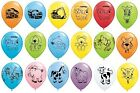 """Pack of 5 Qualatex 11"""" - Cute/Cuddly/Animals/Dinosaurs+ Childrens Party (Helium)"""