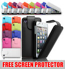 LEATHER FLIP CASE COVER & SCREEN PROTECTOR FOR VARIOUS APPLE IPHONE IPOD
