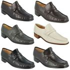 MENS FORMAL LEATHER GRENSON SLIP ON MOCCASIN SHOES IN 5 COLOURS STYLE CLAPHAM
