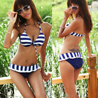 Hot Sale Women Beach Dress Padded Women Swimsuit Stripe Bikini Bathing Suit S M