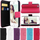 STAND WALLET CARD LEATHER FLIP CASE COVER FOR APPLE IPHONE 5 5G +SCREEN GUARD