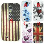 Vintage US UK Flag TPU Gel Rubber Soft Case Cover For Samsung Galaxy S4 i9500