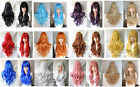 HOT SELL 12 Colors women girls Long Curly Cosplay Party Wavy Wig 80cm Z.2