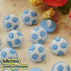 Blue Football 12mm Plastic Buttons Sewing Scrapbooking Cardmaking Craft FBB