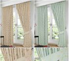 Fully Lined Jacquard Floral Regency Curtains + FREE Tie Backs in 5 Sizes
