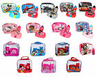 CHILDREN'S KIDS LUNCH BAG WITH BOTTLE & 3D SANDWICH BOX DISNEY MICKEY MINNIE