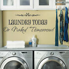 Laundry Washing Room Art  Wall Quote Stickers, Wall Decals, Words Lettering
