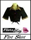 50s 60s Rockabilly Pin Up Top Flirt Shirt Tie Up Vintage Style Blouse suit Skirt