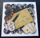 Son In Law Roulette Croupier Casino Gambling Poker Birthday Card - Red Or Black