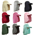Camping Hiking Fishing Outdoor Sun Mesh Long Brim Long Neck Cover Flap Hat Cap
