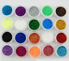 3G GLITTER POTS EXTRA FINE 20 COLOURS NAIL ART ACRYLIC SHELLAC DUST POWDER NEW