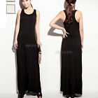 New Womens Ladies Racer Back Muscle Vest Long Skirt Maxi Dress