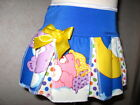 Girls White,blue,pink,Yellow Carebears,spot,Cheerleader Skirt,Party,Gift, Retro