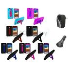 For Samsung Attain Galaxy S2 II i9100 Hybrid Case Cover Stand+2X Chargers