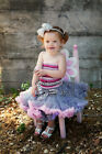 Gray Lavender Pink Pettiskirt Tube Top 2pc Birthday Party Dress 1-4Y TU22WC12