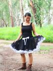 Black White Pettiskirt FULL Party Tutu Teen Adult P37