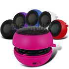 Portable Speaker Rechargeable Hot Pink 3.5mm For Various Mobile Phones