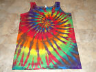 New Hippie tie dye dyed womens shirt tank top Small S SM Anvil