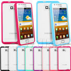 CLEAR HARD BACK TPU BUMPER CASE COVER FOR SAMSUNG GALAXY S2 II I9100 + FREE FILM