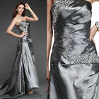 Newly Lady Dress White Cocktail Prom Ball Club Wedding Party Long Evening Dress
