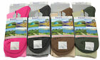 L74 LADIES 4prs SOFT DURABLE CUSHIONED FOOT OUTDOOR WALKING HIKING BOOT SOCKS