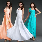 Stock Long Chiffon Maxi Evening Party Prom Dress Ball Gown SZ 6 8 10 12 14 16