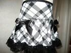 Cool Baby Girls  Black,White Check Lace Frilly Party,Gift Skirt,Retro,Goth,Rock,