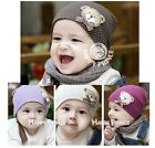Kid Cotton Crochet Baby Hat Twin Baby Cap Newborn Unisex Point Hat