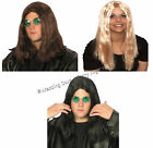 Long Wig 60s 70s 80s Rocker Glam Rock Star Hippy Hippie Mens Ladies Fancy Dress