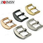 16 18 20 22 24 26mm THICK Solid Stainless Steel Watchband Strap Pin Clasp Buckle