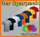 3er Sparpack FRUIT OF THE LOOM T-Shirt S M L XL XXL 3XL TOP QUALITÄT TOP ANGEBOT