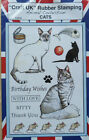 CRAFT UK RUBBER STAMPS *FOOTBALL*GOLF*CHRISTMAS*CATS*