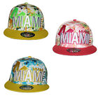 B M YOUTH / KIDS - HAWAIIAN MIAMI CLASP SNAPBACK Flat Peak Cap Hat Snap Back