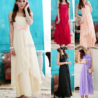 New Chiffon Bow Bridesmaid Ball Cocktail Party Prom Halter Neck Evening Dress