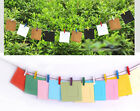 SET OF 10 SMALL HANGING PHOTO FRAME KIT INCLUDED ROPE AND COLOURFUL CLIPS