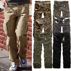 New Mens Uniform Army Cargo Pants Camo Combat Camouflage Trousers Hot