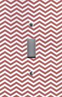 Light Switch Plate Switchplate & Outlet Covers CHEVRON - RED AND WHITE