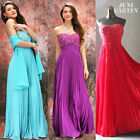 A008 Party- Abendkleid Ballkleid Bodenlang Chiffon 36 38 40 42 44 46 48 50 52 54