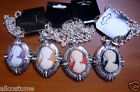 4 Piece Cameo Necklace Set 1920s 1930s Jewelry Flashback Victorian Women 236