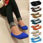 Fashion Ladies Ballerina Dolly Microsuede Pump Womens Slippers Flat Shoes
