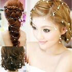 Best Aesthetic Pearl Bead Bridal Headpiece Wedding Bridal Hair Vine Tiara dress
