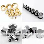 2-22mm Stainless Steel 5 Types Ear Flesh Plug Flare Tunnel Stretcher Expander