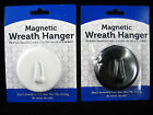 1 Black or White Magnetic Steel Door Wreath Hangers NEW FREE SHIPPING