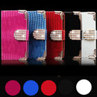 DIAMOND MAGNETIC FLIP WALLET LEATHER CASE COVER FOR IPHONE 4G 4S 5G 5S S3 I9300