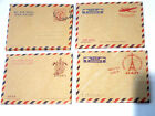 Mini Envelope Vintage Style Kraft Air Mail Par Avion 4 Designs Retro X 10
