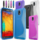S-Line Wave Gel Case Cover For Samsung Galaxy Note 3 N9000 + Screen Protector