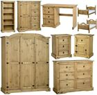 MEXICAN PINE CORONA BEDROOM FURNITURE, CHESTS BEDS ROBES *FREE NEXT DAY DELIVERY