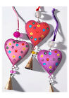 BNWT Namaste Hand Painted Hanging Heart with Bell Christmas Decoration!!